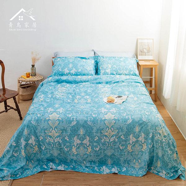 【青鳥家居】吸濕排汗頂級天絲四件式被套床包組-羅浮宮廷(雙人)
