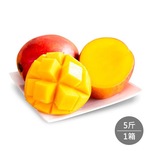【順優選】枋山保證甜愛文芒果5斤禮盒1箱(9-11顆)