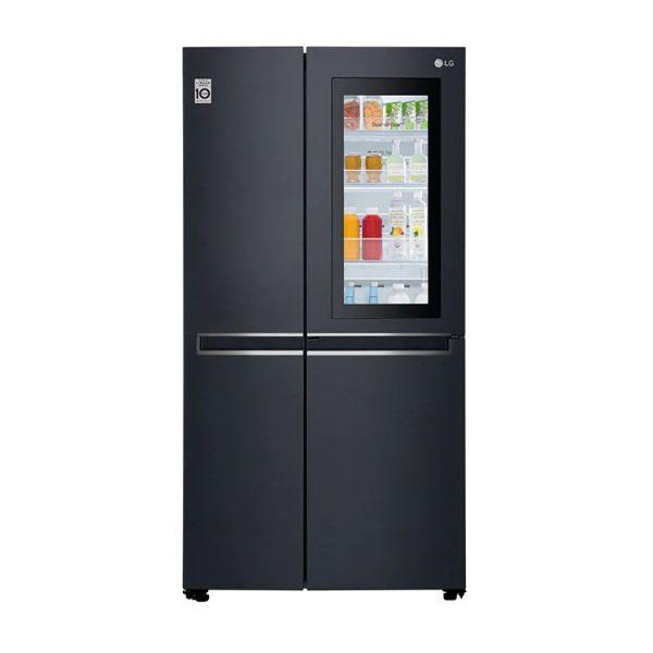 【LG】GR-QL66MB LG直驅變頻對開式冰箱 630L 敲敲看門中門 夜墨黑