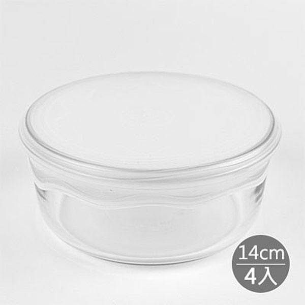【LE CASSEROLE】白金矽膠立體保鮮膜14cm*4入 (白色)