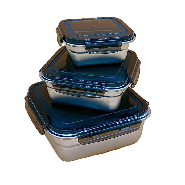 【m.s嚴選】方型304不鏽鋼保鮮盒三件組