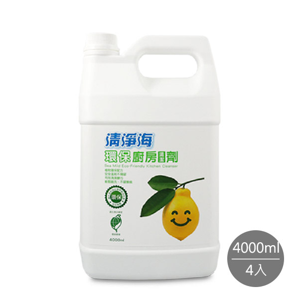 【清淨海】環保廚房清潔劑4000ml*4入
