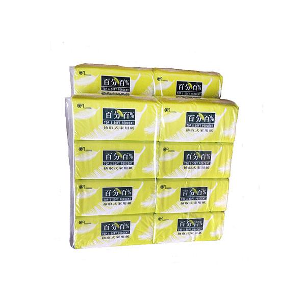 【百分百】抽取式衛生紙130抽x8包x6串