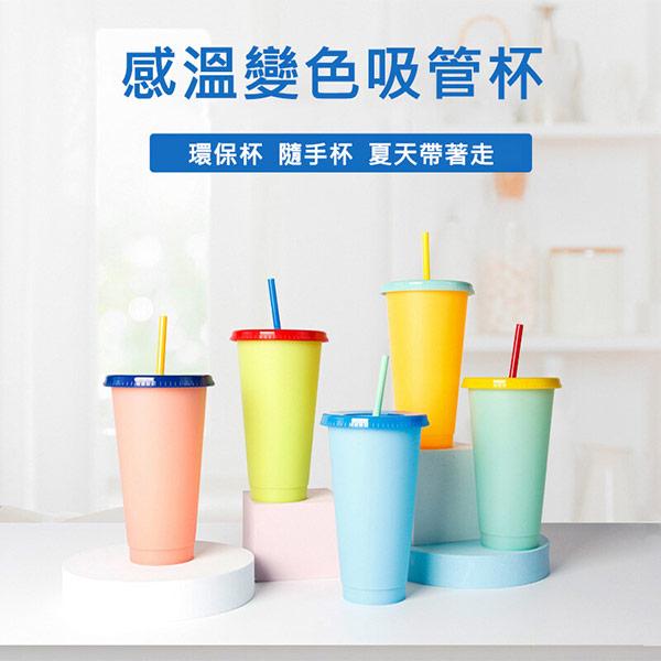 感溫變色隨身杯 變色杯 感溫杯 環保杯 5入組 (買就送杯套1個)
