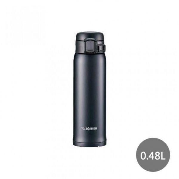 【象印】ONE TOUCH 超輕量0.48L保溫杯-霧面黑 SM-SC48-HM