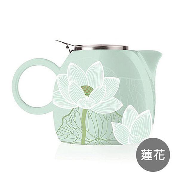【Tea Forte】普格陶瓷茶壺-蓮花