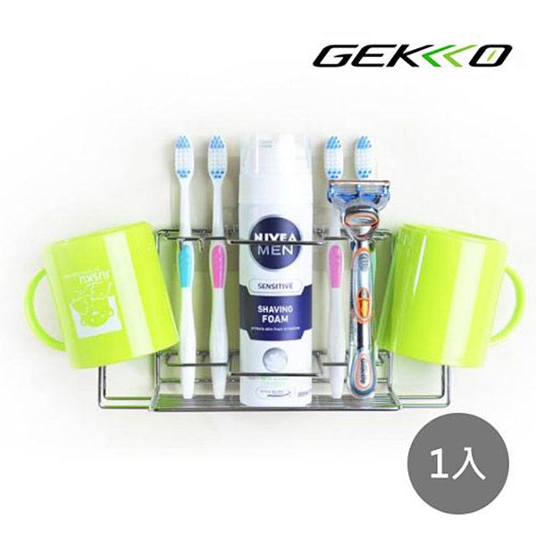 【GEKKO 掛酷】STEEL系列 #304 不鏽鋼收納 多用途盥洗工具架-(1入)