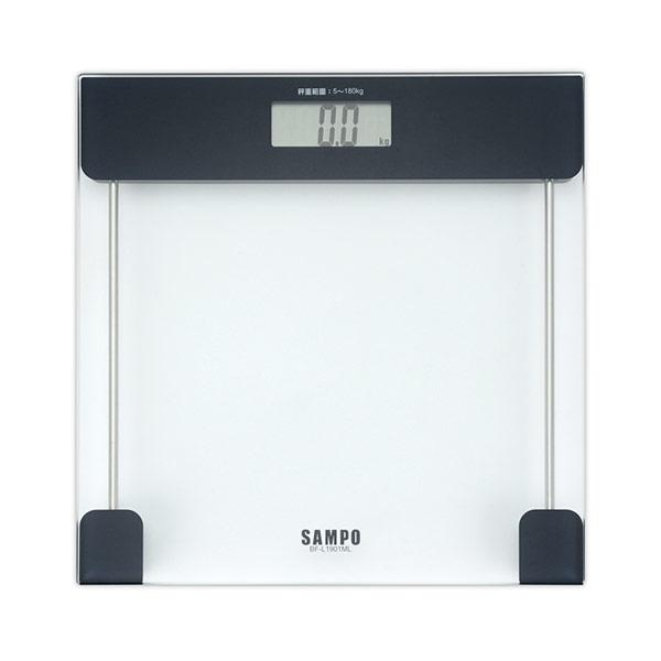 【SAMPO聲寶】大螢幕自動電子體重計(2入組) BF-L1901ML