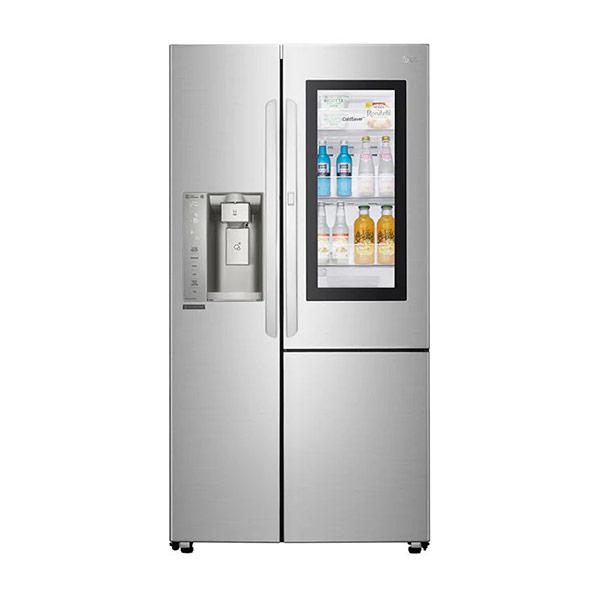 【LG】GR-QPL88SV LG直驅變頻對開式冰箱 敲敲看 761L 自動冰飲系統(需接水管) 兌換送輝葉按摩槍