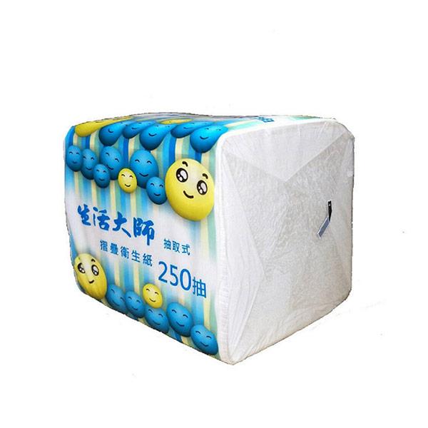 【生活大師】單抽式衛生紙250抽x48包