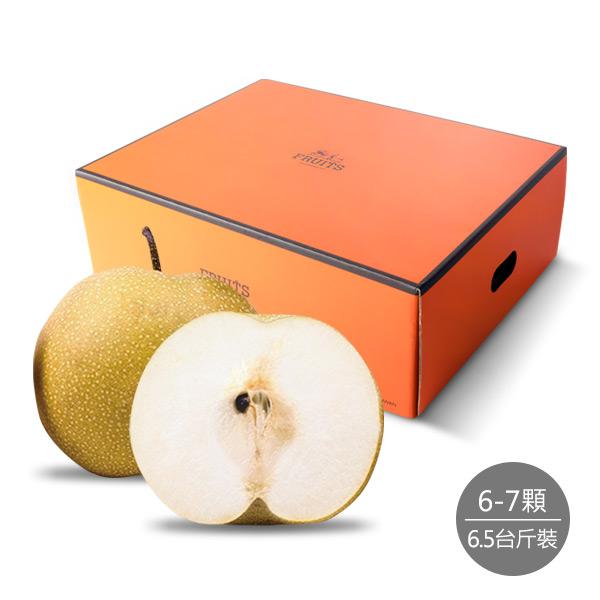 【順優選】梨山清甜幼細甘露梨6.5台斤精裝禮盒(6-7顆)
