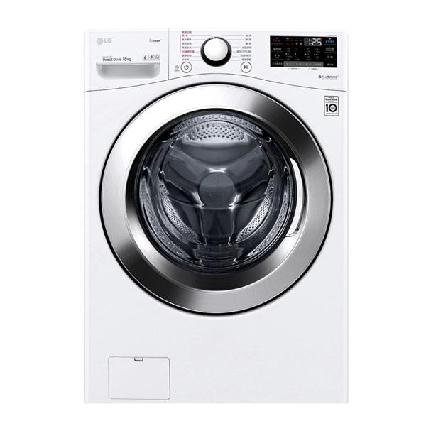 【LG樂金】18公斤WiFi滾筒洗衣機(蒸洗脫)WD-S18VCW(含基本安裝)