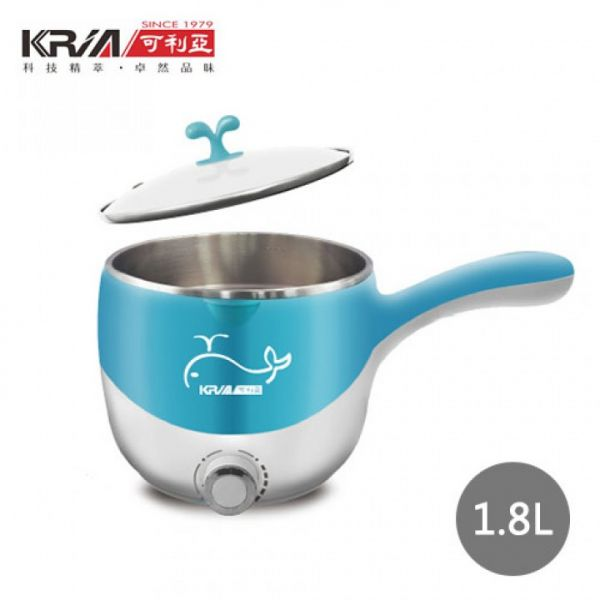 【KRIA可利亞】1.8L多功能美食蒸煮鍋/電火鍋/蒸鍋 (KR-D027)