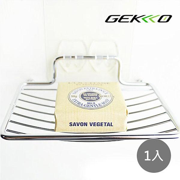 【GEKKO 掛酷】STEEL系列 #304 不鏽鋼收納/肥皂架-(1入)