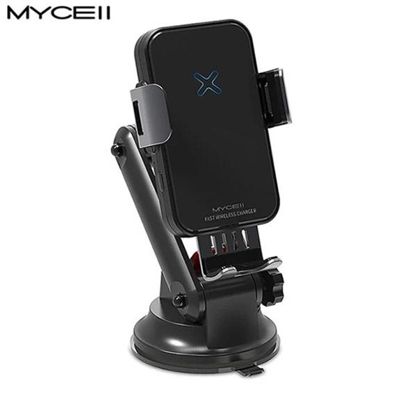 【MYCEll】QI-018 自動 15W 無線充電車架組(QI-018附贈QC3.0車充)
