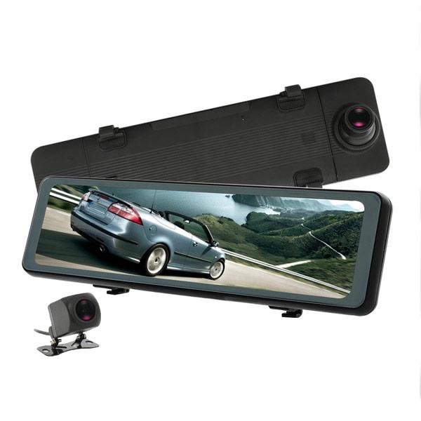 【CORAL】AE3 11吋全屏觸控電子雙錄後視鏡(贈32G記憶卡+GPS測速模組)