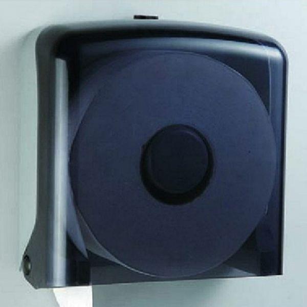 【興亞】大捲筒衛生紙架-方型透明黑