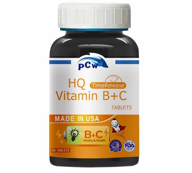 【保佳兆】緩釋型維他命B+C(60粒/瓶) 緩釋型,維他命B+C