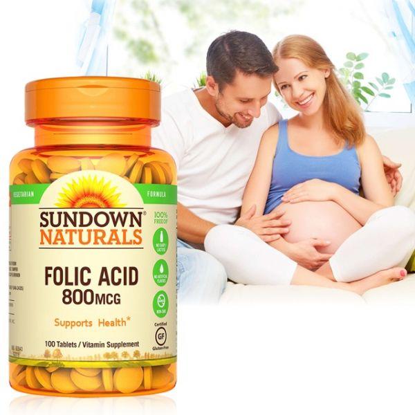 【日落恩賜】高單位葉酸800mcg(100錠/瓶) 日落恩賜,葉酸,孕婦,寶寶