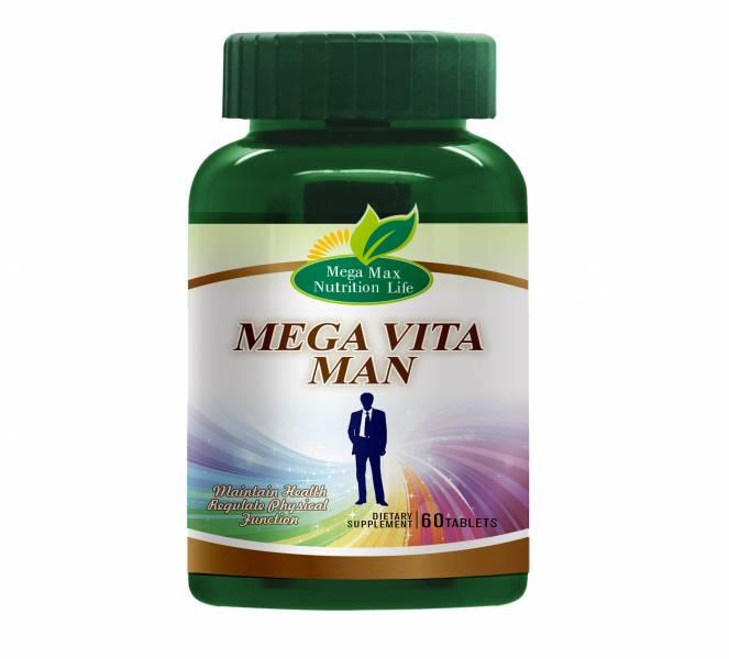 【MEGA】男士多維錠(60錠/瓶) Mega,男性,綜合維他命,維他命
