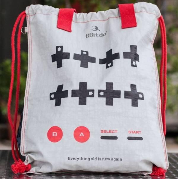 里歐街機 8bitdo 八位堂 抽繩束口袋 魂斗袋 男女通用 好收納 後背包
