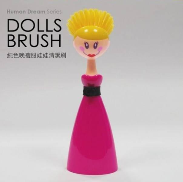 Vigar純色晚禮服娃娃清潔刷 Vigar純色晚禮服娃娃清潔刷,維宜卡,vigar,菜瓜布,海綿刷,掃除用具,日用品,廚房清潔,掃把,刷布