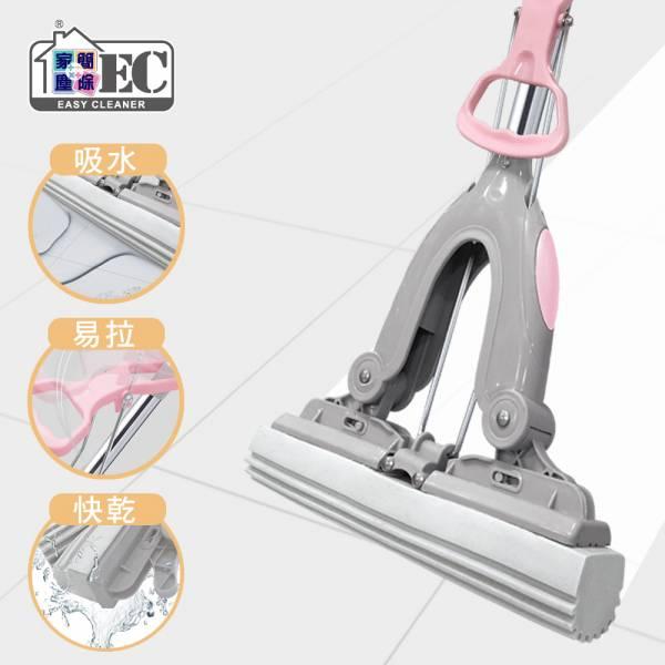 【家簡塵除】省力吸水膠棉拖把 旋轉拖把,地板清潔工具,掃除用具,日用品,拖把用具,掃把,拖把