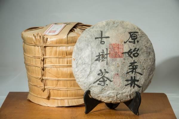 2012年原始森林 野放古樹普洱生茶餅357克