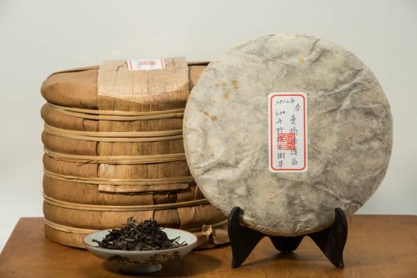 2012年曼稿保護區 野放古樹普洱生茶餅357克
