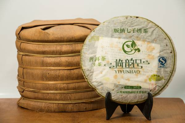 2010年倚邦曼拱寨 喬木普洱生茶餅375克