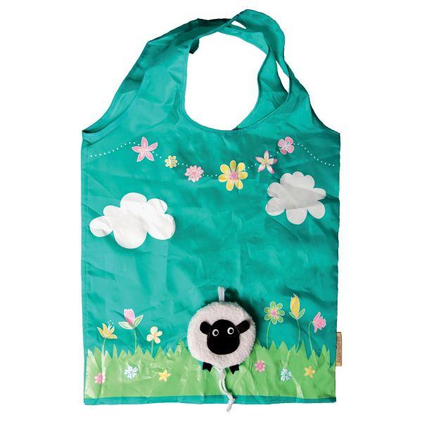 英國設計品牌sass & belle摺疊收納環保購物袋(黑臉羊)
