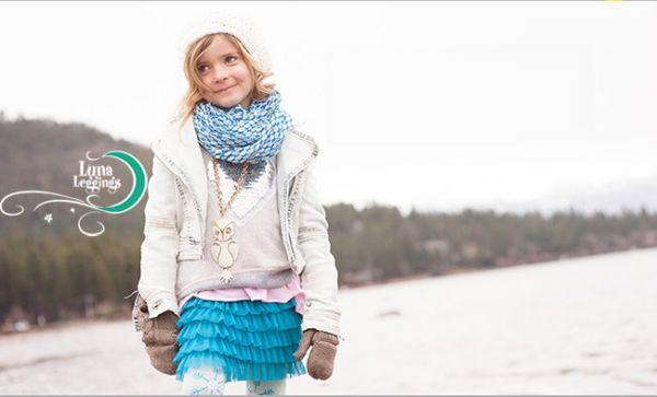 【美國 Luna Leggings 】雪紡紗裙有機棉內搭褲(冰雪世界Frozen Tutu) 有機棉, 保暖加厚, 厚磅, 溫暖力,  百搭打底