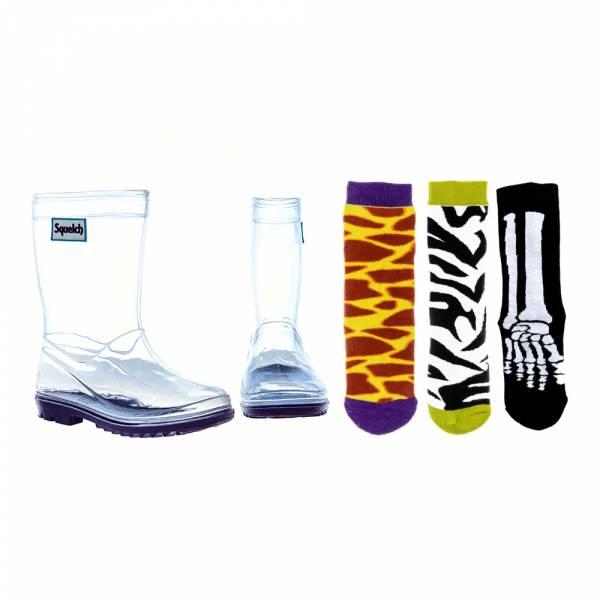 【限定價1499含3款襪】透明百變雨鞋_BOY組