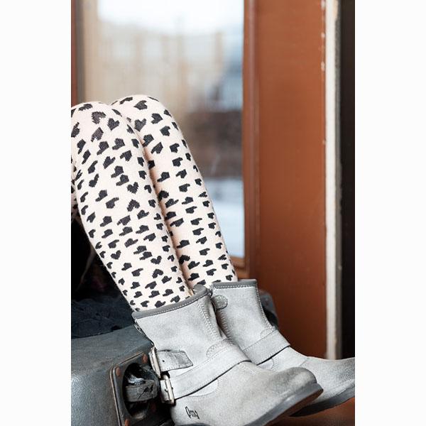 【美國 Luna Leggings 】有機棉內搭褲-(小小愛心Tiny Heart)) 有機棉, 保暖加厚, 厚磅, 溫暖力,  百搭打底