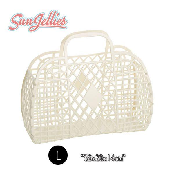 【英國Sun Jellies】環保果凍提籃(RETRO復古系列) L-奶油白