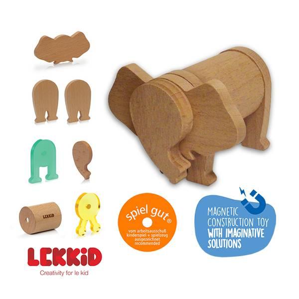 【西班牙LEKKID】磁性積木(大象7片組)