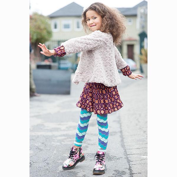 【美國 Luna Leggings 】有機棉內搭褲-(小美人魚Mermaid) 有機棉, 保暖加厚, 厚磅, 溫暖力,  百搭打底