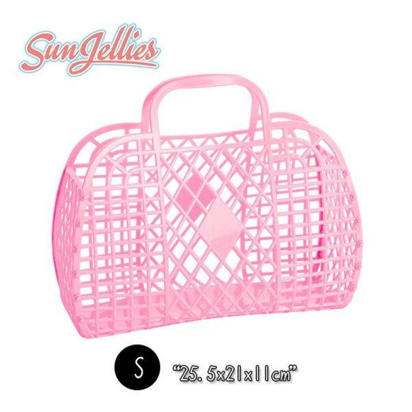 【英國Sun Jellies】環保果凍提籃(RETRO復古系列) S-泡泡粉