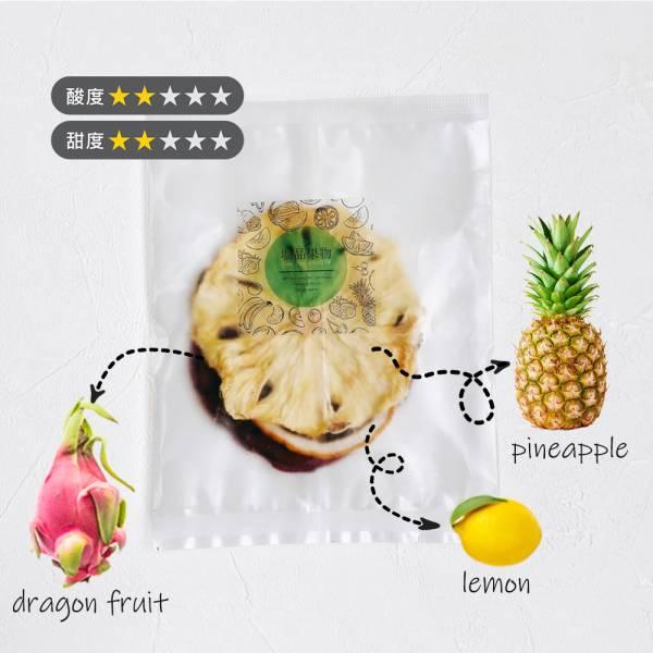 【GeePin Fruitty】Pineapple-Dragon Fruit (pineapple+dragon fruit+lemon) dried fruit & herb water(10 sachets / set)