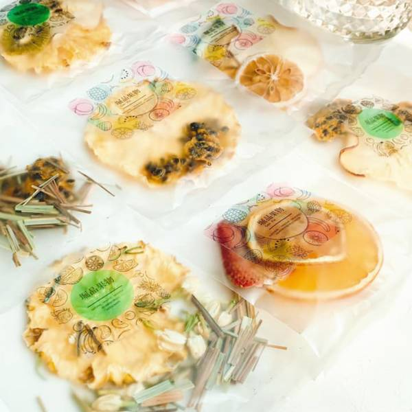 【GeePin Fruitty】Assorted dried fruit & herb water (56 sachets/ set)