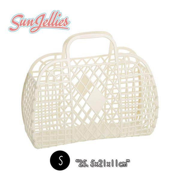 【英國Sun Jellies】環保果凍提籃(RETRO復古系列) S-奶油白