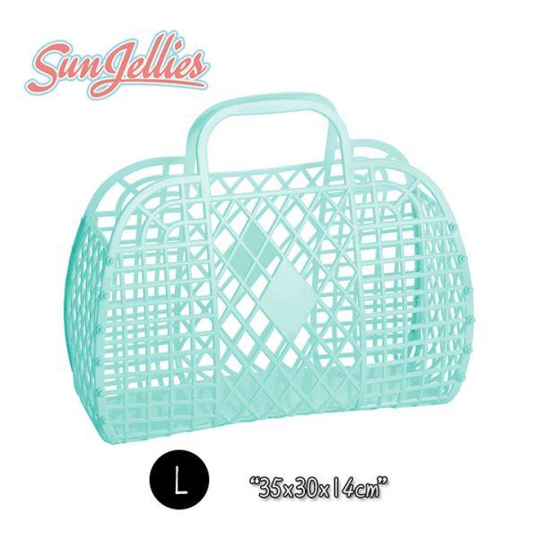 【英國Sun Jellies】環保果凍提籃(RETRO復古系列) L-薄荷綠