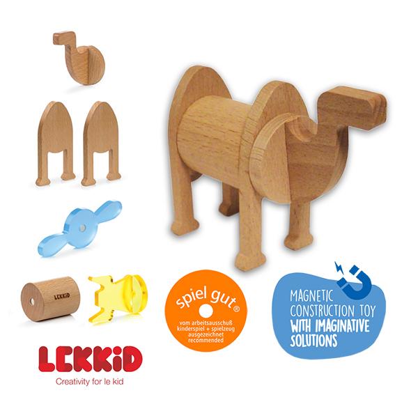 【西班牙LEKKID】磁性積木(駱駝6片組)