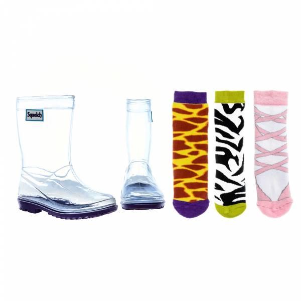 【限定價1499含3款襪】透明百變雨鞋_GIRL組