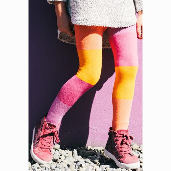 【美國 Luna Leggings 】有機棉褲襪-(絢麗日落Sunset) 有機棉, 保暖加厚, 厚磅, 溫暖力,  百搭打底