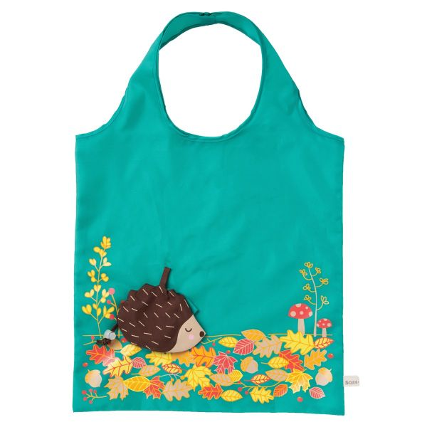 英國設計品牌sass & belle摺疊收納環保購物袋(刺蝟)