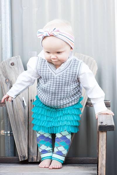 【美國 Luna Leggings 】雪紡紗裙有機棉內搭褲(小美人魚Mermaid Tutu) 有機棉, 保暖加厚, 厚磅, 溫暖力,  百搭打底