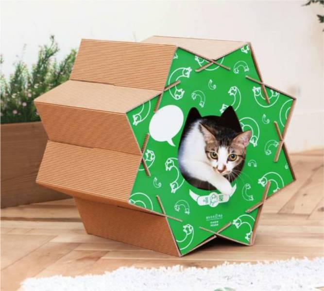 【喵滾滾】慵懶綠(喵屋是貓窩,是貓抓板,也是貓隧道~) design handmade natural系列 創意 簡約 設計 貓屋 貓抓板 貓跳台