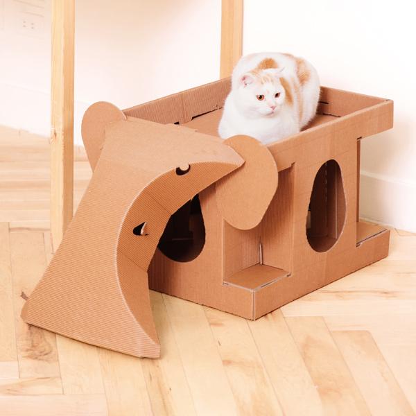 【大象喵屋】 (喵屋是貓窩,是遊戲室,也是貓抓板~) 喵屋/貓屋/紙貓屋/寵物居/便宜/質感