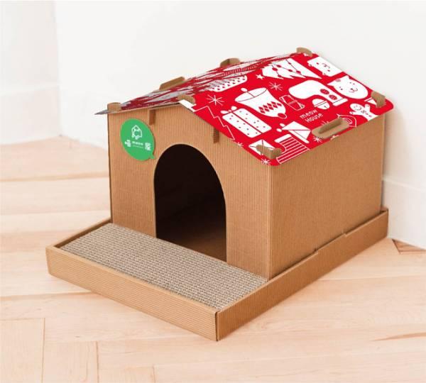 【別墅喵屋+赤白聖誕屋頂】 (喵屋是貓窩,也是貓抓板~) 別墅 喵屋 別墅喵屋 綠野仙蹤 貓屋 個性化